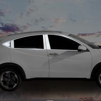 For Honda HRV HR V Vezel 2014 2015 2016 Stainless Steel Whole Window Cover rims Garnish Pillar Protection 20Pcs Car Accessories