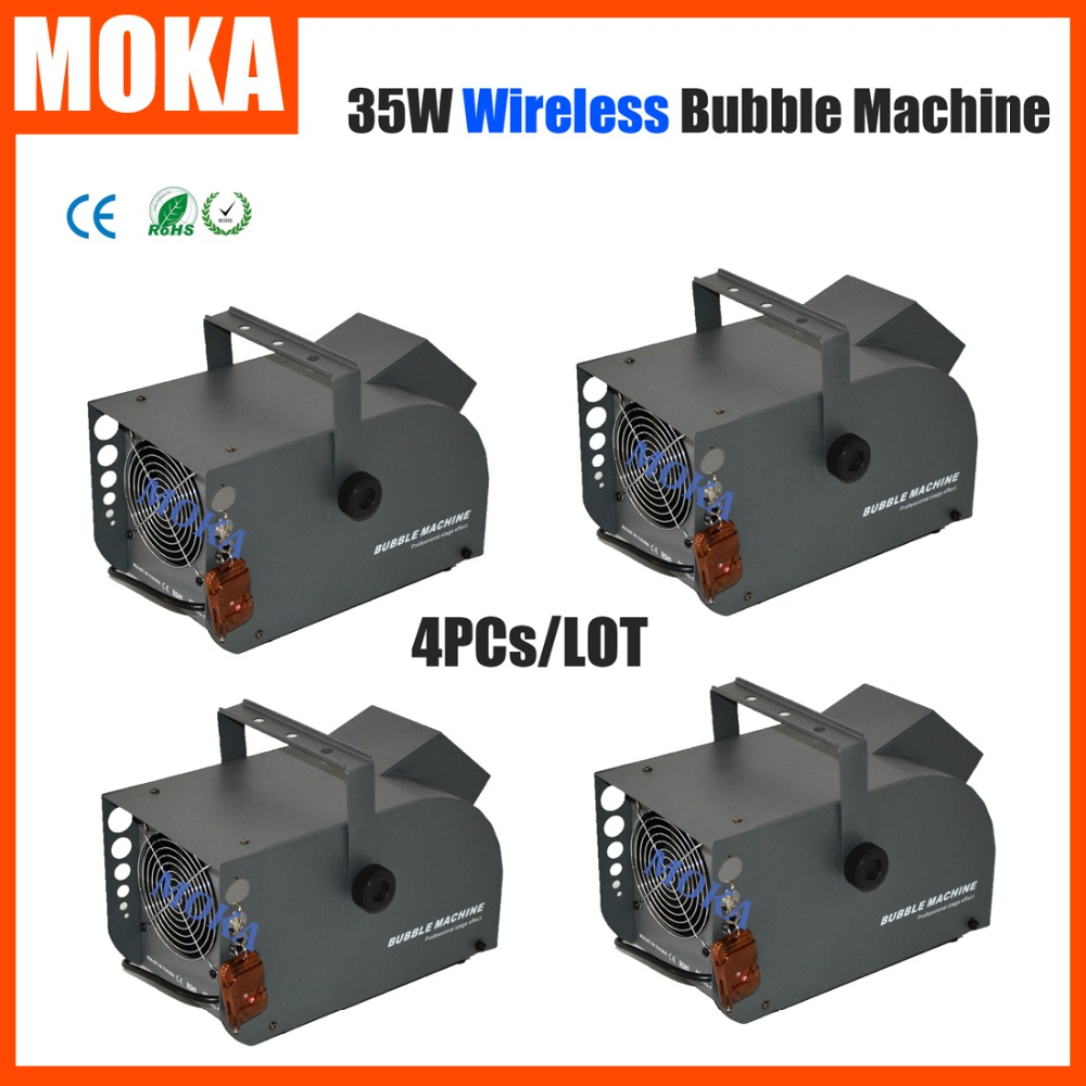 4PCs/LOT 35W Automatic Bubble maker disco bubble machine Auto Blower Maker bubble