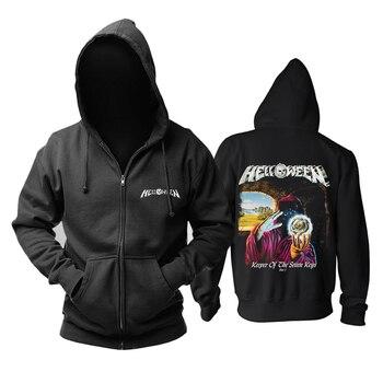 Bloodhoof  Helloween Heavy Metal Speed Metal black zipper hoodie Asian Size