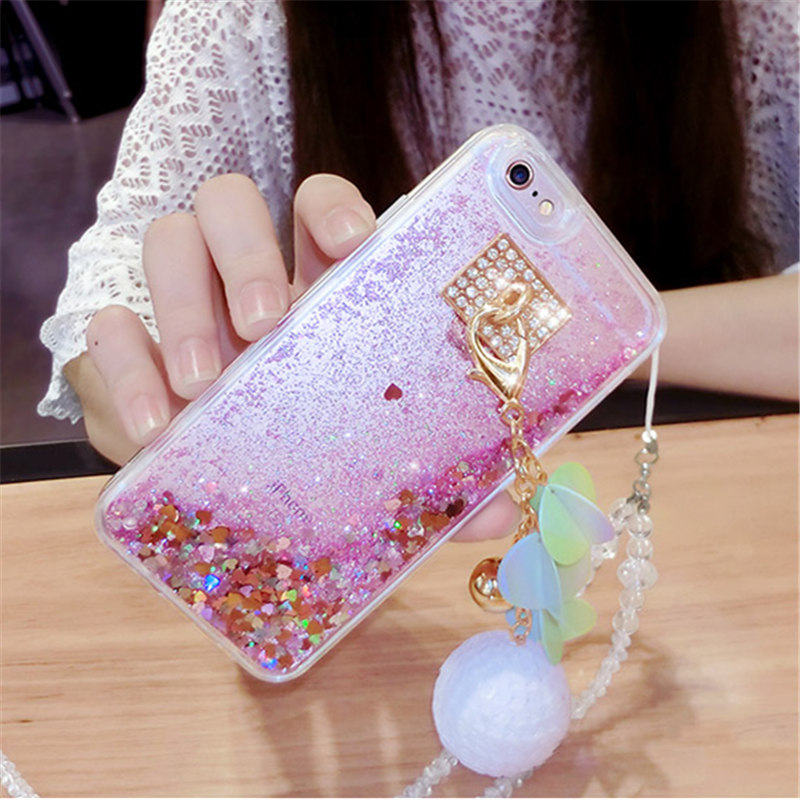 Rhinestone Cases Dedicated Case For Samsung A5 A6 A7 A8 J3 J4 J5 J6 J7 2018 Luxury Snowball Rhinestones Liquid Quicksand Glitter Sand Phone Case Capa Coque To Enjoy High Reputation In The International Market