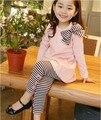 2017 Novos conjuntos de roupas crianças primavera e outono meninas roupas Sportswear terno crianças usam
