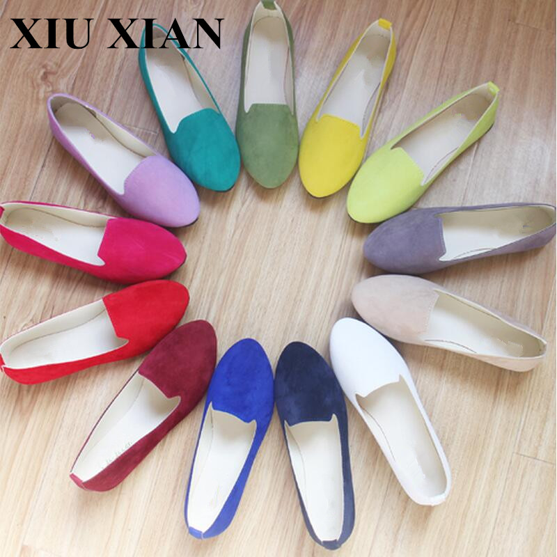 Ladies Shoes Ballet Flats Women Flat Shoes Woman Slip On Shoes Large Size 42 Casual Shose Sapato Womens Loafers Zapatos Mujer drfargo spring summer ladies shoes ballet flats women flat shoes woman ballerinas pointed toe sapato womens waved edge loafer