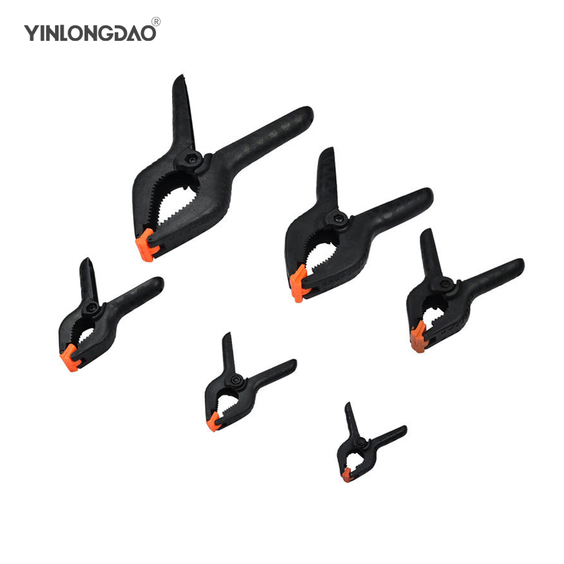 6pc Plastic Nylon Toggle Clamps For Woodworking Spring Clip Photo Studio Grampo Clamp Hout Klemmen Sauterelle Hand Tool Set