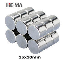5pcs 15 x 10mm N35 Mini Powerful Magnet Rare Earth Permanent Small Round Strong Neodymium Magents