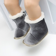 Winter Baby Boots Solid Bling Boys Girls Shoes Russia Infants Warm Shoes Faux Fur Girls Baby Booties
