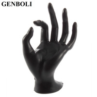 GENBOLI 1pcs Jewelry Display Ring Bracelet Necklace Hanging Hand Holder Stand Show Rack Resin