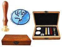 Vintage Christmas Deer Custom Luxury Wax Seal Sealing Stamp Brass Peacock Metal Handle Sticks Melting Spoon
