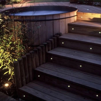 Low Voltage Step Lights Outdoor: (18 pieces/lot) 24MM Super Small led deck light IP67 12V Low Voltage,Lighting