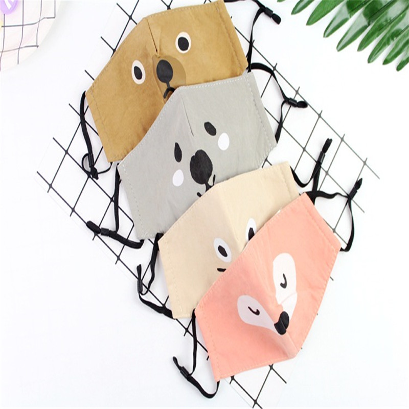 5pcs/Bags A Variety Of Styles Optional New Listing Cute Animal Head Dustproof Haze Mask Three-dimensional Protective Masks