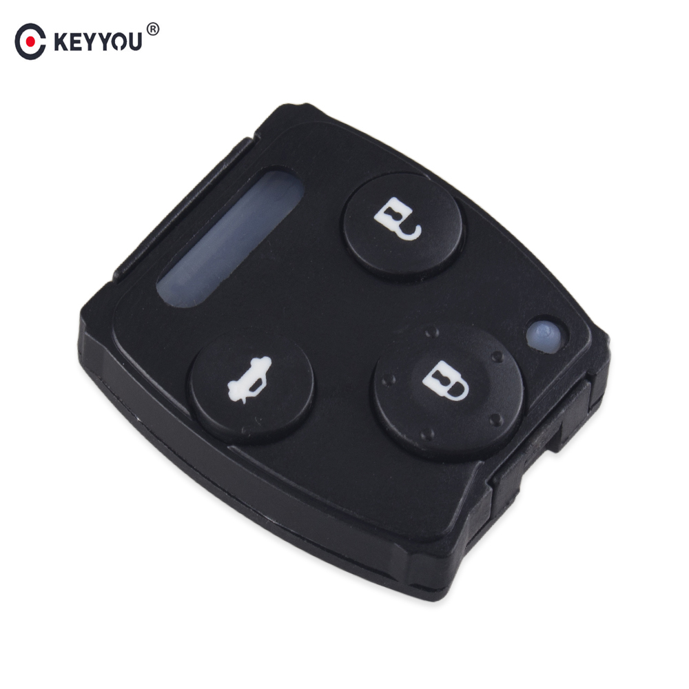 Chiave Telecomando per Honda Accord Sedan Pilot Car Key Shell Rubber Pad Kit Remote Key Pad 2/3 Tasti Car Case Cover Fob