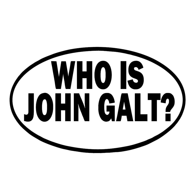 Us 2 65 41 Off Who Is John Galt Of Vinyl Decal Sticker Car Styling Car Window Wall Bumper Cool Graphics Decorate Jdm In Car Stickers From