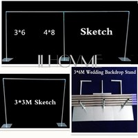 Wedding Backdrop Stand with expandable Rods Backdrop Frame Adjustable Stainless Steel Pipe Wedding supply