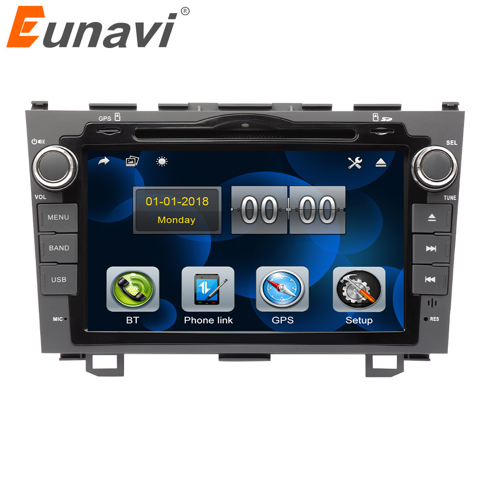 Eunavi 2 Din 8'' Car dvd player <font><b>GPS</b></font> Navi For <font><b>Honda</b></font> <font><b>CRV</b></font> 2006 <font><b>2007</b></font> 2008 2009 2010 2011 Stereo Radio Video touch screen SWC RDS image