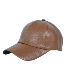 2019 new Unisex Snakeskin pattern caps  PU Leather baseball cap Sunscreen sun hat Outdoor fishing sports men women's