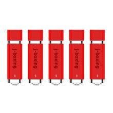 J-boxing USB Flash Drives Bulk 32GB 16GB Lighter Design Memory Stick 4GB 8GB Pendrives 1GB 2GB Thumb Drive Red 5PCS/Pack