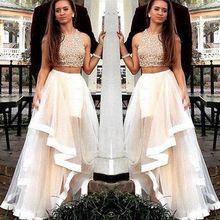 2017 neue zwei stücke prom dress lange partei formal pageant abendkleid promi lange dress