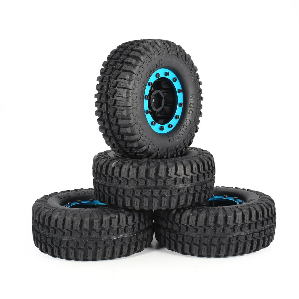 Parts & Accessories Austar 4pcs Ax-3001 125mm Rim Rubber Tyre Tire Wheel Plastic Hub For 1/10 Rc Big Feet Model Hsp Hpi Beadlock No Gluing Toys & Hobbies