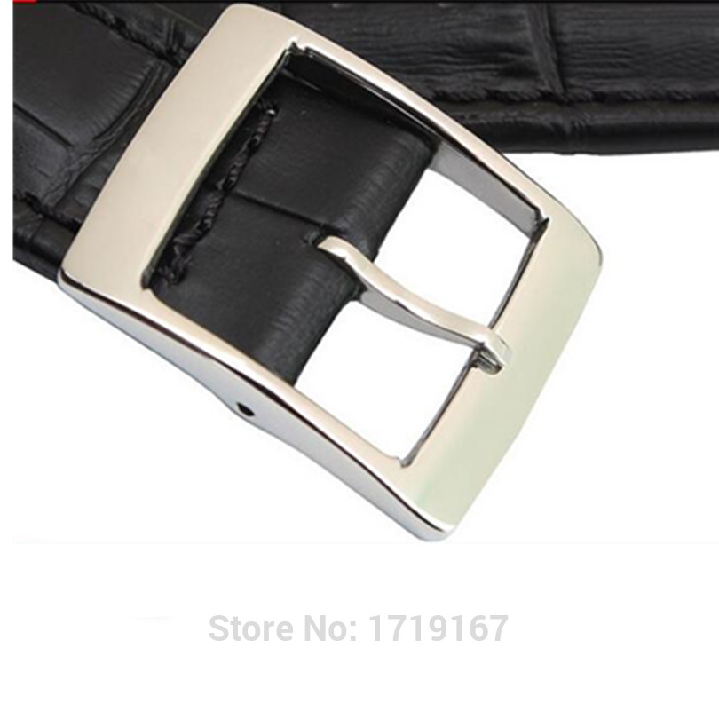 Handmade genuine leather Strap 19 17mm 21 19mm black double deep recesses Replacement Watch Band for Swatch YRS Watchband in Watchbands from Watches