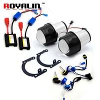 ROYALIN Car Styling H11 Fog Light Lens Kits W AC Bulb Ballast 2 5 Metal HID