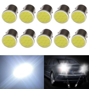 цена на 10x 12V 24V 1156 BA15S P21W 1157 Bay15d P21/5w COB 12 SMD Led Light Lamp Car Turn Signal Brake Bulb White