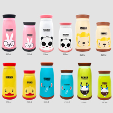 350ml/260ml Thermal Mug Cartoon Duck Deer Elephant Panda Lion Animal Thermos Cup For Women Kids Water Bottle garrafa termica