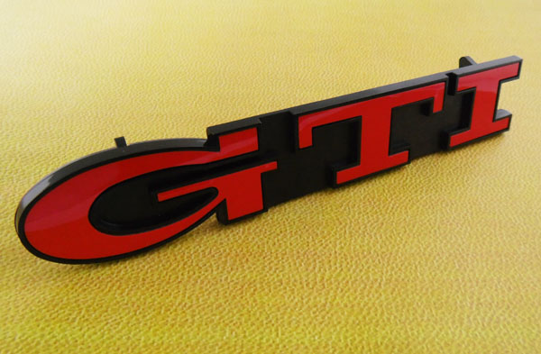 Auto car Red GTI for Golf MK3 Front Grill Grille Emblem Badge auto chrome camaro letters for 1968 1969 camaro emblem badge sticker