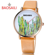 Free shipping BAOSAILI Top Brand Pattern Charming Fancy  Simple Cartoon Pattern Gold Plating Case Fashion Quartz Watch BS1014