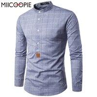2017 Brand New Men Shirt Plaid Male Dress Shirts Men S Fashion Casual Long Sleeve Business