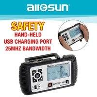 Все солнце 2 in1 мультиметр осциллограф 25 мГц цифровой Ручной Scopemeter Вольтметр Омметр емкость EM125