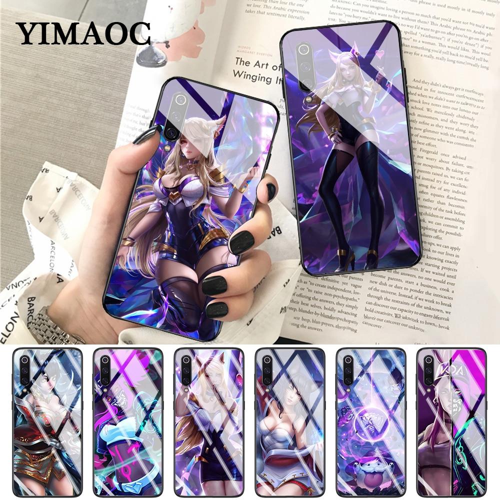 YIMAOC league of legends kda poros Glass Case for Xiaomi Redmi 4X 6A note 5 6 7 Pro Mi 8 9 Lite A1 A2 F1