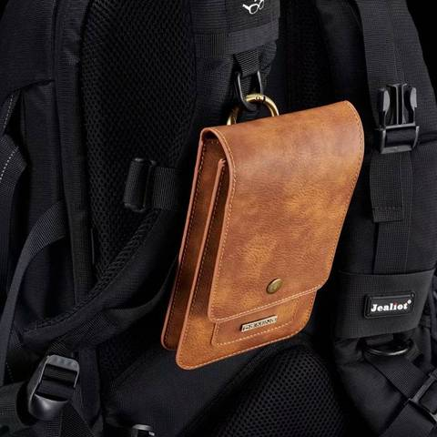 Put Two Mobile Phone Pouch Hanging waist For All Phones Coque Iphone Case Waist Pack Luxury Leather Covers Shell Accessories Bag Pakistan