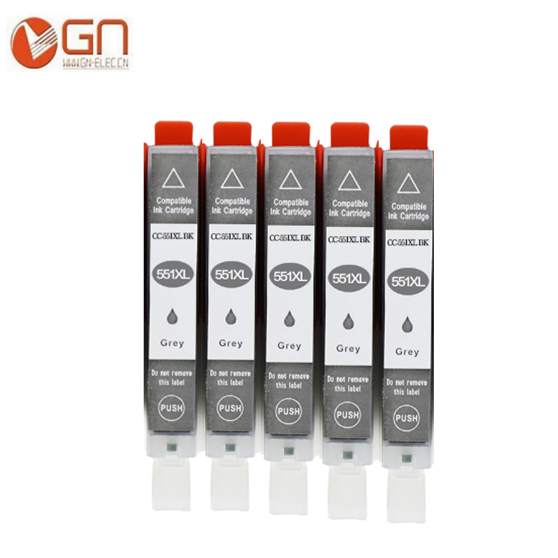 GN CLI 551 CLI-551 xl с серыми чернильными картриджами для Canon Pixma MG5400 MX925 MX725 MG5450 MG5550 MG6350 MG6450