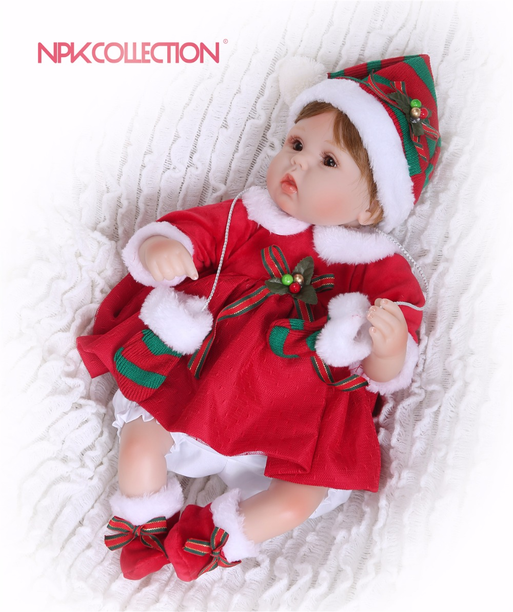 NPKCOLLECTION 2018 Silicone Reborn Baby Doll kids Playmate Gift For Girls 46cm Baby Alive Soft Toys Doll Reborn Christmas gift все цены