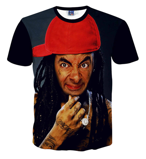 dca5a38e4 funny Mr . Bean printed t-shirts boys girls clothing big kids short sleeve  t shirt Cuhk child tops