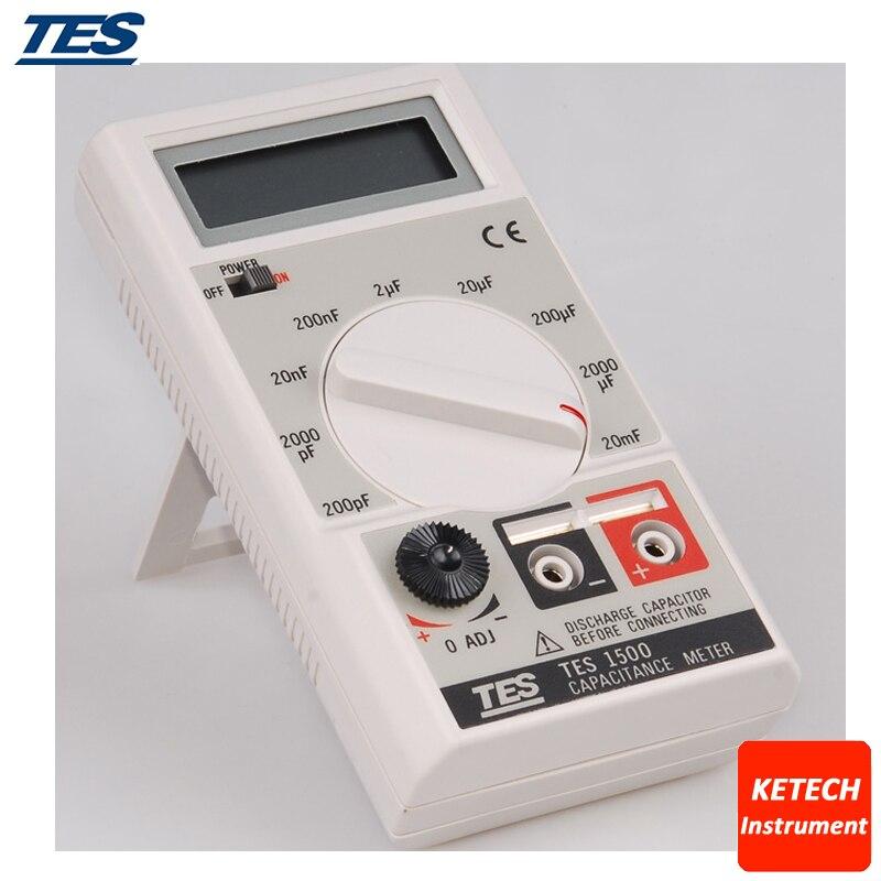 TES1500 Capacitance Meter Tester 20mF-20000uF