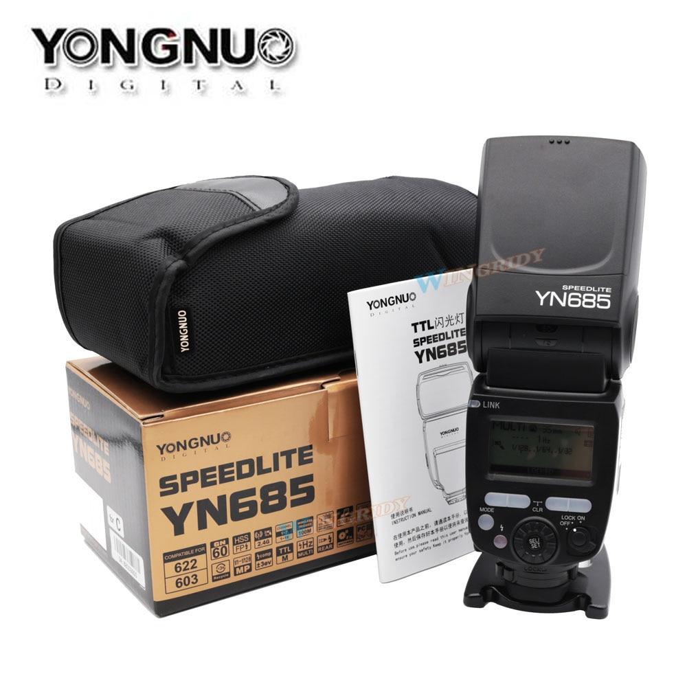 все цены на YONGNUO YN685EX Flash Speedlite 2.4G Wireless HSS 1/8000s Radio Slave Mode for For Nikon support YN662N YN560-TX RF605 RF603 II онлайн