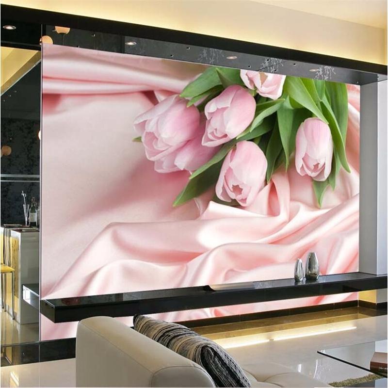 beibehang fotowand papier wohnzimmer stereoskopischen rosa rose tv hintergrund blume romantische schlafzimmer mural tapete fr wnde - Rosentapete Schlafzimmer