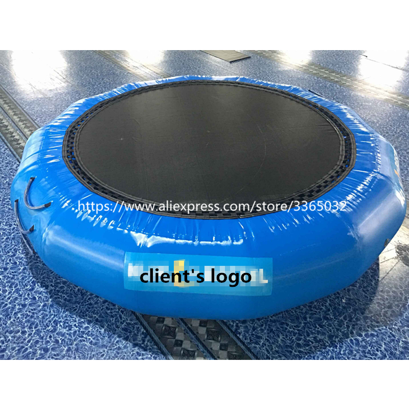 Pool float toy water inflatable trampoline inflatable water platform inflatable bouncer for floating water park games free shipping garden park outside pvc toys inflatable 13ft bouncer trampolines high quality interative games for sale
