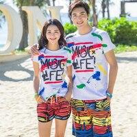 Lovers Board Shorts Swimwear Quick Dry Camouflage Swimsuits Sports Beach Surf Short Women Lovers Swim Beach