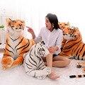 Lovely Brinquedos de Pelúcia 50*26 cm Kawaii Réplica de Pelúcia Tigre De Pelúcia Boneca de Pelúcia Macia 100% Algodão PP Presente de Aniversário Presente de natal