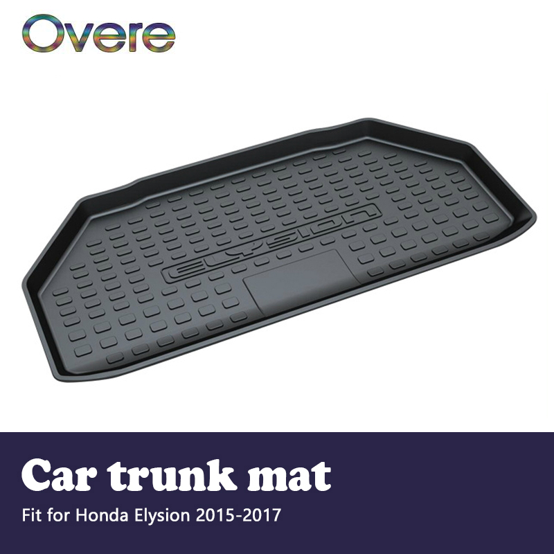 Overe 1Set Car Cargo rear trunk mat For Honda Elysion 2015 2016 2017 Car-styling Boot Liner Waterproof Anti-slip mat Accessories цена