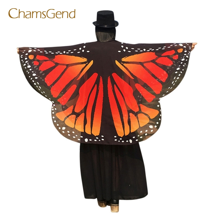 Women Soft Butterfly Wings Beach Dress Shawl Fairy Nymph Pixie Costume Accessory
