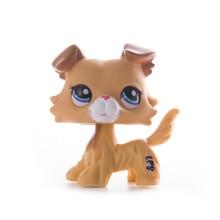 лучшая цена LPS Pet Shop Presents Collie Dog littlest Toys Cat Dolls Mini Action Figure Model High Quality Limited Collection Toys Gift Girl