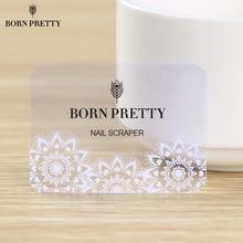 Born pretty Рождество Ногтей Штамповка Скребок Снежинка Явный Штамп Мини Карты 5.5 х 4 см
