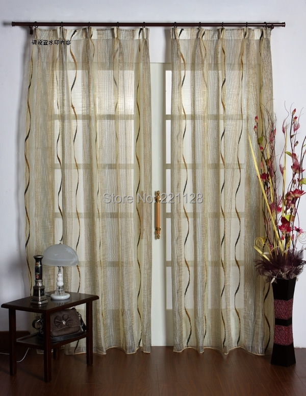 High Grade Characteristic Sheer Curtain,Tulle Panel,Voile Blinds,Jacquard  Gold Wire