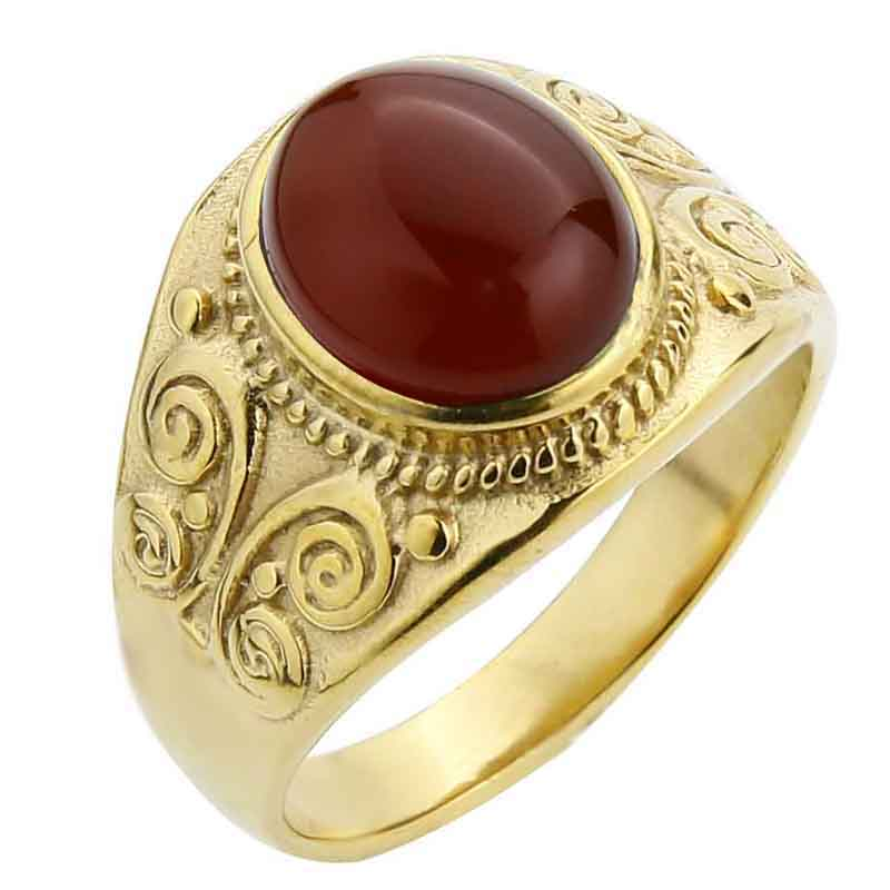 Gold-Red agate