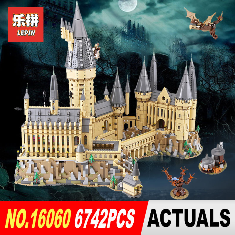 lepin 16060 harry film potter serie die legoinglys 71043 hogwarts castle weihnachten spielzeug 16042 pirates serie die stille 2018 Lepin 16060 Harry Magic Potter Hogwarts Castle School Compatible Legoing 71043 Building Blocks Bricks Educational Toy Model