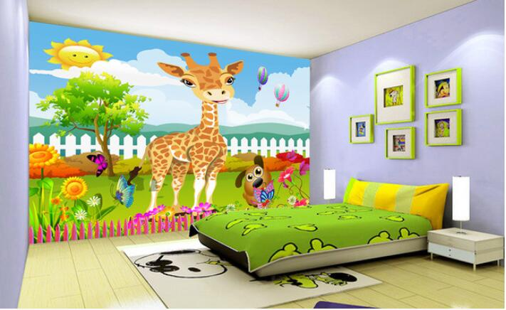 3d wallpaper custom mural non-woven Cartoon animals at 3 d mural children room wall stickers photo 3d wall mural wall paper custom 3d photo wallpaper mural nordic cartoon animals forests 3d background murals wall paper for chirdlen s room wall paper