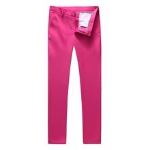 MOGU Для мужчин Новая мода Костюмы костюм брюки мужские Однотонная одежда Slim Fit костюм брюки Smart Повседневное Высокое качество Man Pants