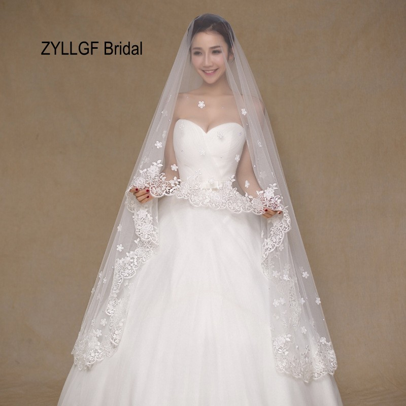ZYLLGF Bridal 2017 In Stock High Quality Cheap Wedding Veils Voile De  Mariage Long Bridal Veils 52a8660b534e